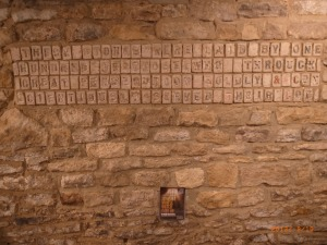 These stones were laid by one hundred of those who through great persecution boldly and conscientiously served their God